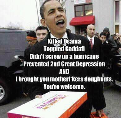 Obama brought donuts