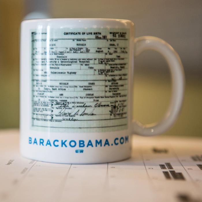 obama birth certificate mug