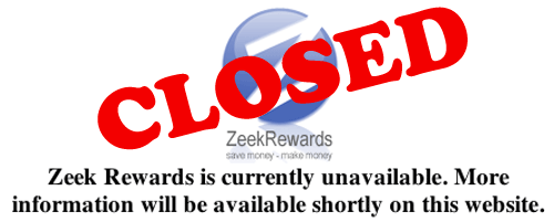 zeek rewards closed