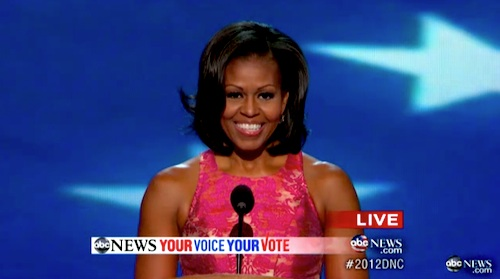 Michelle Obama at the DNC 2012